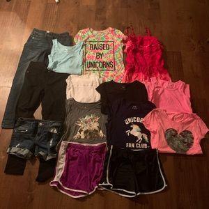 lot/bundle justice girls clothes 14-20. pieces-14